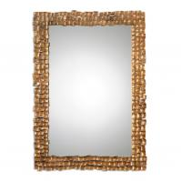 Carasco Antiqued Gold Rectangular Wall Mirror