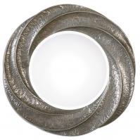 Spiraali Round Silver Wall Mirror