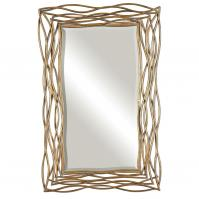 Tordera Oxidized Gold Mirror
