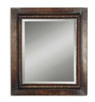 Tanika Distressed Dark Brown Rectangular Mirror