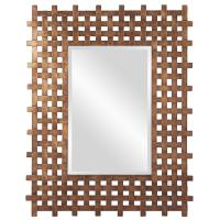 Burma Square Rustic Gold Mirror