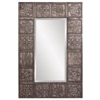 Templar Rectangular Pewter Mirror