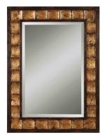 Justus Distressed Mahogany Rectangular Mirror
