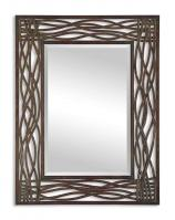 Uttermost Dorigrass Distressed Mocha Brown Rectangular Mirror