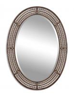 Matney Distressed Oil Rubbed Bronze Oval Mirror