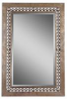 Uttermost Fidda Antiqued Silver Leaf Rectangular Mirror