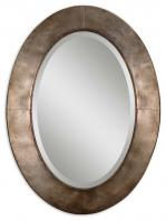 Kayenta Oval Antiqued Silver Champagne Mirror