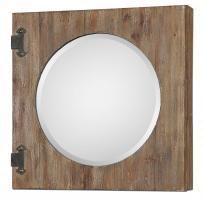 Gualdo Aged Wood Mirror Cabinet
