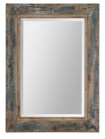 Uttermost Bozeman Rectangular Distressed Blue Mirror