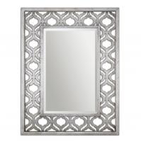 Sorbolo Antiqued Silver Leaf With Black Undertones Rectangular Mirror