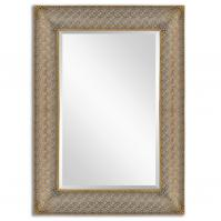 Ariston Antiqued Gold Leaf Rectangular Mirror