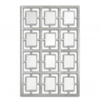 Dodici Antiqued Silver Leaf Rectangular Mirror