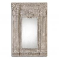 Anicetus Heavily Distressed Stone Gray Rectangular Mirror