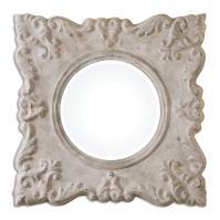 Cautano Gray Ivory Square Mirror