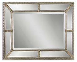 Lucinda Antiqued Champagne Rectangular Mirror
