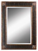 Uttermost Bergamo Vanity Distressed Chestnut Brown Rectangular Mirror