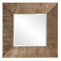 James Square Reclaimed Plank Wood Mirror