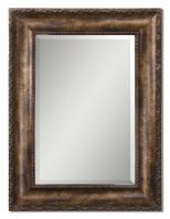 Leola Antiqued Bronze Wash Rectangular Mirror