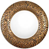 Shardul Round Gold Mirror