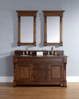 60 Inch Double Sink Bathroom Vanity with Choice of Top