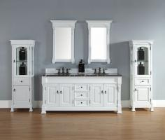 72 Inch Double Sink Bathroom Vanity with Choice of Top