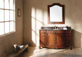 60 Inch Single Sink Bathroom Vanity in Cherry