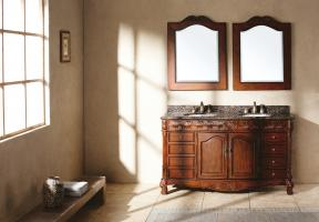 60 Inch Double Sink Bathroom Vanity with Dovetailed Drawers