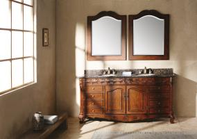 72 Inch Double Sink Bathroom Vanity with Dovetailed Drawers