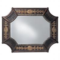 Orion Mirror with Antique French Brown Finish