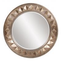 Fantasia Round Silver Leaf Mirror