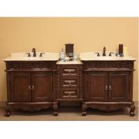 Bellaterra Home 83 Inch Double Sink Bathroom Vanity