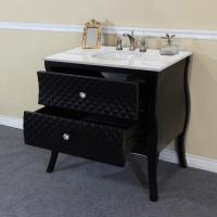 35.4 Inch Single Sink Bathroom Vanity with Black Granite