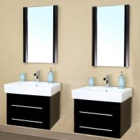 double sink vanity 48 inches. 24 Inch Double Sink Wall Mount Bathroom Vanity In Black Shop Small Vanities 47 To 60 Inches With Free Shipping