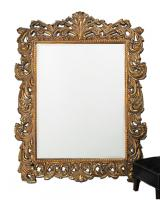 Napoleon Rectangular Antique Gold with Gold Inlay Mirror