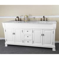 72 Inch Double Sink Bathroom Vanity in White