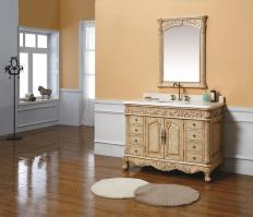 48 Inch Single Sink Bathroom Vanity in Parchment