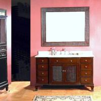 53 Inch Single Sink Bathroom Vanity with Eight Drawers