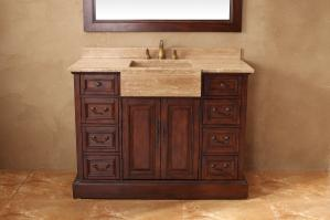 48 Inch Single Sink Bathroom Vanity in Cherry
