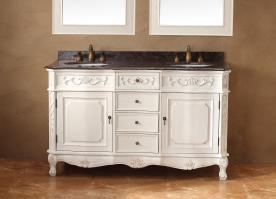 60 In Bathroom Vanity. 60 Inch Double Sink Bathroom Vanity In Antique White