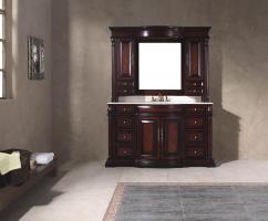61.75 Inch Single Sink Bathroom Vanity with Eight Drawers