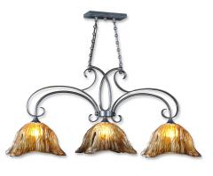 Vetraio 3 Light Bronze Kitchen Island Light