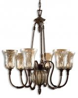 Galeana 6 Light Antique Saddle Iron Chandelier