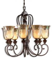 Elba 8 Light Spice Candle Chandelier
