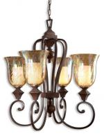 Elba 4 Light Spice Candle Chandelier