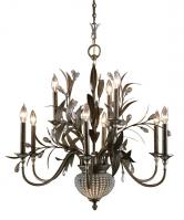 Cristal De Lisbon 11 Light Glass Beads Chandelier