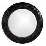 Bergman Round Glossy Black Mirror