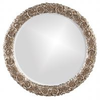 Rosalie Round Antique Silver Leaf Mirror