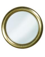 Saturn Round Burnished Silver with Red Highlights Mirror