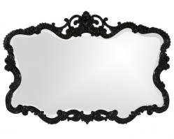 Howard Elliott Talida Unique Glossy Black Lacquer Mirror