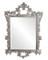Sherman Rectangular Bright Silver Leaf Mirror
